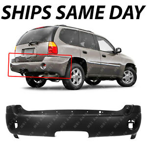 New Primered Rear Bumper Cover Replacement For 2002 2009 Gmc Envoy Xl 12335703