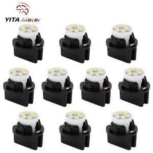 Yitamotor T10 194 White Led Bulb Instrument Cluster Dash Light Twist Lock Socket