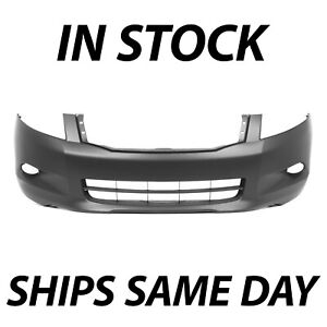 New Primered Front Bumper Cover Fascia For 2008 2009 2010 Honda Accord V6 08 10