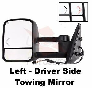 Chevy Avalanche 03 04 05 06 Power Heated Drivers Side W signal Lamp Tow Mirror