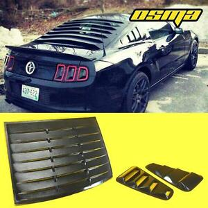 2005 2014 Mustang Coupe Black 1 4 Side Vent Window Louvers Rear Sun Shade Cover