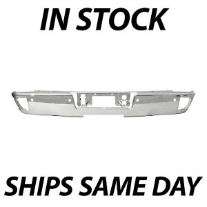 New Chrome Steel Step Bumper Face Bar For 2014 2018 Chevy Silverado