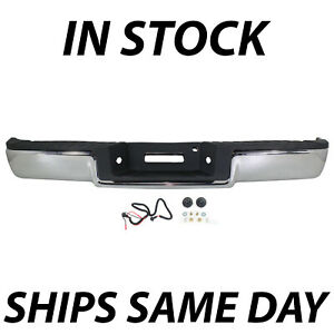 New Chrome Rear Steel Step Bumper Assembly For 2004 2005 Ford F150 Truck 04 05