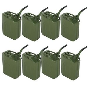 5gallon 8pcs Jerry Can Fuel Steel Green Military Nato Style 20l Storage Tank