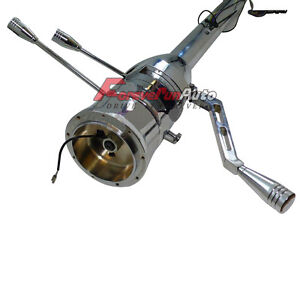 Chrome Stainless 32 Automatictilt Steering Column Forgm Chevy Street Rod No Key