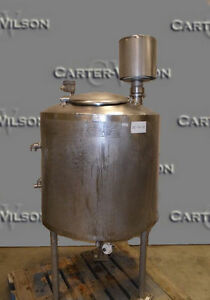 74 Gallon Jacketed Tank Stainless Steel Sanitary