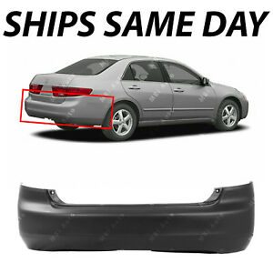 New Primered Rear Bumper Cover For 2003 2004 2005 Honda Accord Sedan 03 05