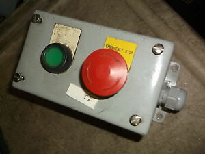 Hoffman E2pbg Emergency Stop Switch Enclosure Box free Shipping