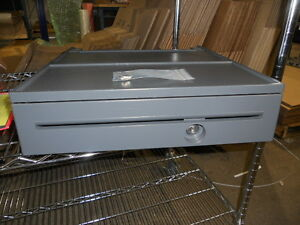 Ibm Cash Drawer Iron Grey 20p0270 With Key And Money Till