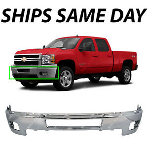 Chrome Steel Front Bumper For 2011 2014 Chevy Chevrolet Silverado 2500
