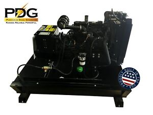 21 Kw Diesel Generator Mitsubishi With 25 Gallon Tank Emergency Standby Genset