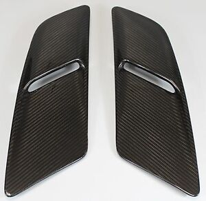 Ford Mustang Gt 2015 2017 Hood Vents Pair Carbon Fiber