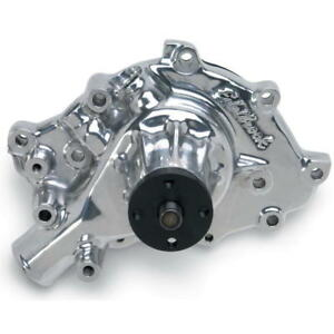 Edelbrock Water Pump 8846 High Volume Polished Aluminum For Ford 302 351w Sbf