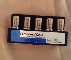 Cerec Inlab Ips Empress Cad Blocks Refill 5 Blocks Ht C2 18 Lot K04977