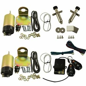 Street Rat Hot Rod Car Truck 85lb Shaved Door Handle Kit 2 Doors Popper Solenoid