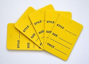 5000 Yellow Merchandise Price Jewelry Garment Store Paper Small Tags 4 5x2 5cm