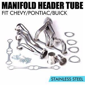 For Chevy Pontiac Buick 265 400 V8 Stainless Racing Manifold Header Small Block