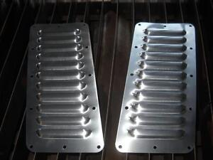 Jeep Yj Tilted Pair Of 11 5 Louvered Panels Hood Louvers Bolt On Style Vent Kit
