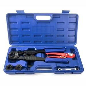 Iwiss F1807 Pex Pipe Crimping Tool With 3 8 1 2 3 4 1 With Free Cutter