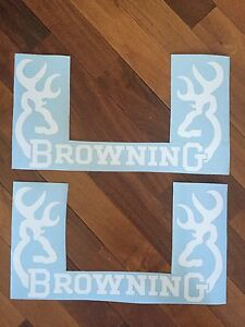 Browning Rear Window Decal Graphic Truck Car Suv 2 Two Large 20 Wide White