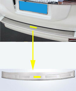 Cover Rear Outer Bumper Protector For 2010 2019 Toyota Land Cruiser Prado Fj150