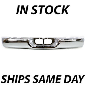 New Chrome Steel Rear Step Bumper For 2000 2006 Toyota Tundra Pickup Truck