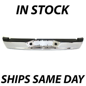 New Chrome Steel Rear Step Bumper Assembly For 2005 2011 Dodge Dakota Truck