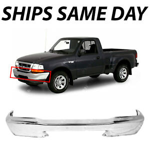 New Chrome Steel Front Bumper Face Bar For 1998 1999 2000 Ford Ranger Truck