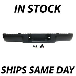 New Primered Complete Rear Steel Bumper Assembly For 2009 2014 Ford F150 Truck