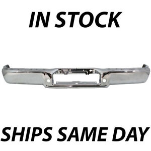 New Chrome Steel Rear Step Bumper Face Bar For 2004 2005 2006 Ford F150 Truck