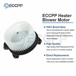 Heater Blower Motor For Compass Accord Edge Dts Pilot Mkx Rdx Tsx Abs Plastic