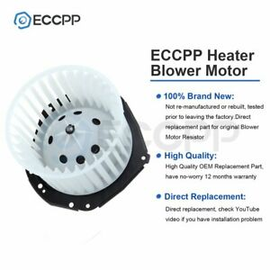 Heater Hvac Blower Motor For Chevy Gmc Pickup Truck Suburban Yukon Abs Plastic
