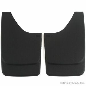 Universal Mud Flaps Mud Guards Splash Guards Front Or Rear Molded Pair Set 2pc
