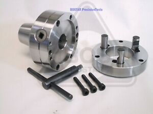 Bostar 5c Collet Chuck With Semi finished D1 4 Back Plate Lathe Use