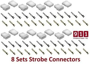 Strobe 3 Pin Connector Amp Power Supply Bulb Female Male Sockets Pin For Whelen