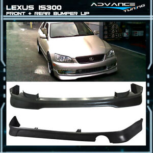 For 01 05 Lexus Is300 Ams Style Urethane Front Bumper Lip J Style Rear Lip