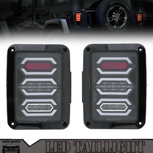 Smoked Len Red Led Tail Lights Brake Reverse Lamp For Jeep Wrangler Jk 2007 2014