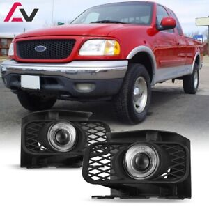 For Ford F 150 99 04 Clear Lens Pair Bumper Fog Light Lamp Halo Projector Dot