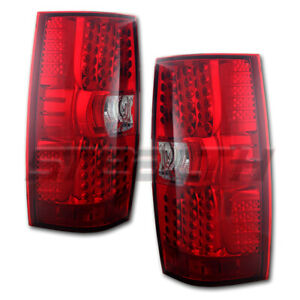 Led Taillight For 2007 2013 Chevrolet Tahoe Chrome Red