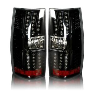 Led Taillight For 2007 2013 Chevrolet Suburban Tahoe Gloss Black clear