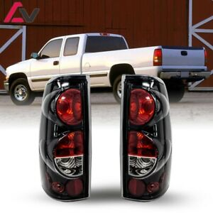 For Silverado Sierra 99 06 Gloss Black Clear Altezza Tail Lights Set Replacement