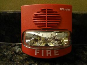 Simplex 4903 9417 T a Non addressable Red 15 Cd A v Fire Alarm Strobe