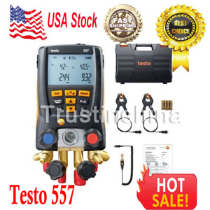 Testo 557 Refrigeration Digital Manifold Kit 0563 1557 Included Clamp Probes T
