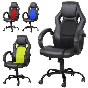 Heavy Duty Executive Racing Office Chair High back Pu Leather Swivel Computer