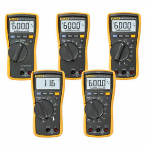Fluke 113 114 115 116 hvac 117 True Rms Digital Multimeters All With Test Leads