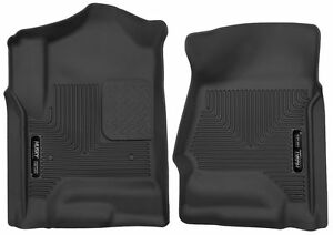 Husky 53111 X act Contour Floor Mats For Chevy Silverado Gmc Sierra Black Front