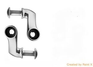 Front Lower Shock Mounts For 28 34 Ford Hot Rods Polished Stainless Steel
