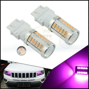 2 X Purple Pink 3157 33smd 5730chip Daytime Running Lights Led Bulbs Drl Lamp