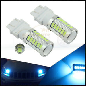 2 X Ice Blue High Power 3157 T25 33smd Daytime Running Lights Led Bulbs Drl Lamp