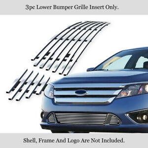 For 10 12 2011 2012 Ford Fusion Sport Bumper Stainless Steel Billet Grille
